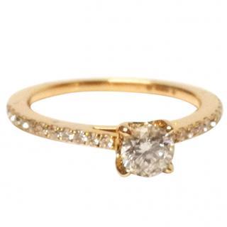 Bespoke Maple Leaf Diamond Ring 18ct Gold 0.62ct