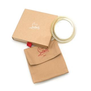 Christian Louboutin Gold Sun Pocket Mirror