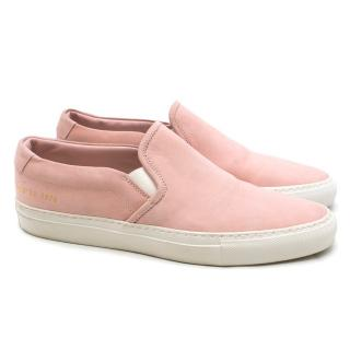 Woman By Common Projects Slip On Suede Sneakers