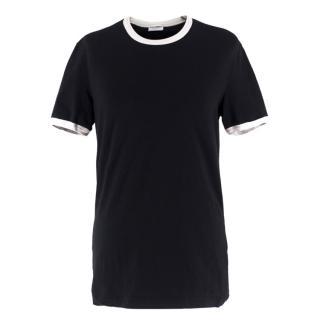 Dolce & Gabbana Black Contrast Trim T-Shirt