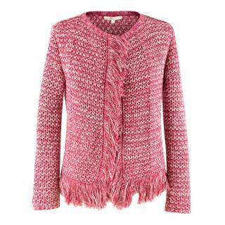 Maje Pink Knit Cardigan