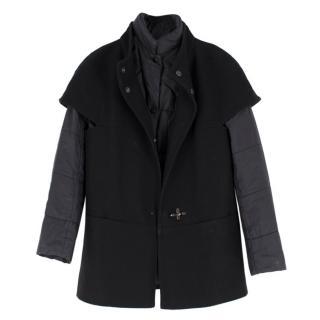 Fay Black Padded Jacket & Felt Short Sleeved Over-Jacket