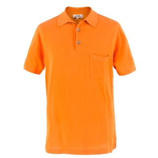 Hermes Orange Polo Shirt