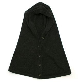 Rag & Bone Grey Cashmere Buttoned Hood