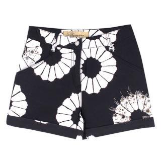 Blumarine X Swarovski Elements High Waisted Shorts