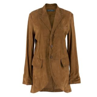 Ralph Lauren Brown Suede Lightweight Coat