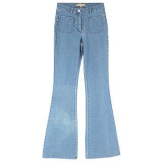 Michael Kors Blue Flared Jeans