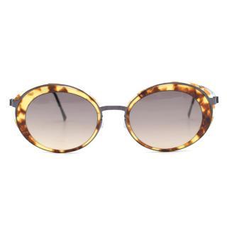 Lindberg Tortoiseshell Oval Sunglasses