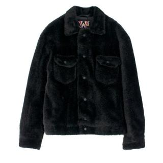 JW Anderson X Asap Rocky And Awge Teddy Fur Jacket