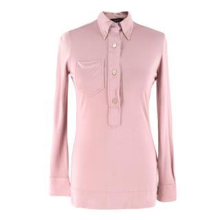 Isabel Marant Patch-Pocket Pink Silk Shirt