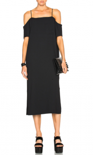 T by Alexander Wang Black Off Shoulder Dress