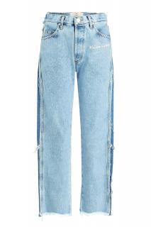 Natasha Zinko Two-Tone Distressed Cropped Jeans