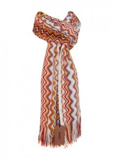 Missoni long wool mix scarf