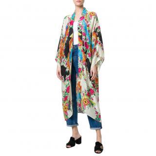 Gucci Floral Print Kimono Coat