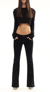 Hudson Signature Bootcut Black Jeans