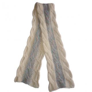 Missoni Foulard Chunky Wool-Knit Scarf