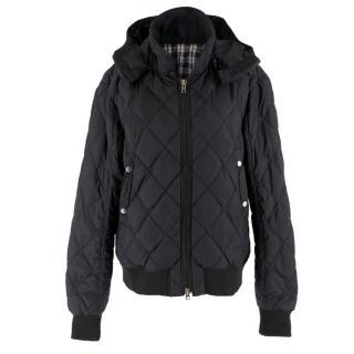 J. Lindeberg Black Quilted Puffer Jacket