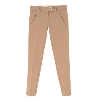 Michael Kors Camel Skinny-Fit Trousers