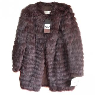 Sprung Fr�res rabbit & fox fur coat
