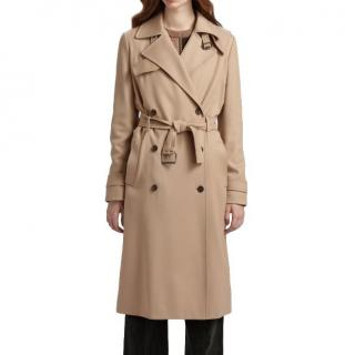 Chloe beige wool-blend trench coat