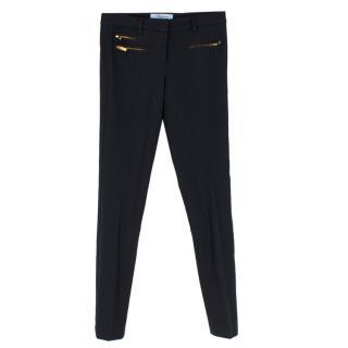 Blumarine navy slim-fit trousers
