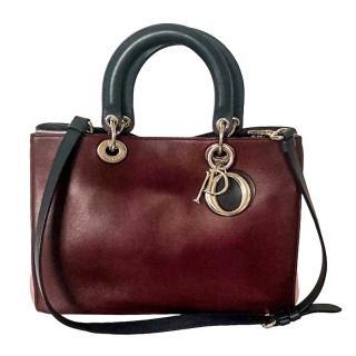 Dior Diorissimo medium burgundy leather bag