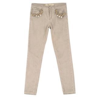 Bluemarine Beige Rope Trousers