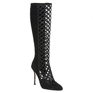Jimmy Choo lattice black boots