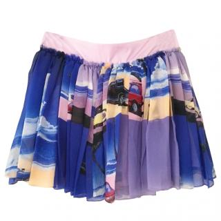 Manish Arora car-print silk mini skirt