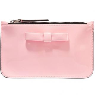 Marni pink leather-bow clutch