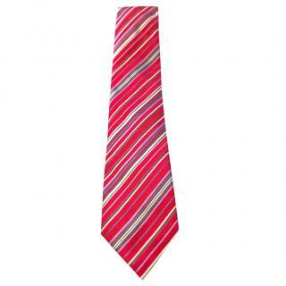 Hermes multi-striped silk-jacquard tie