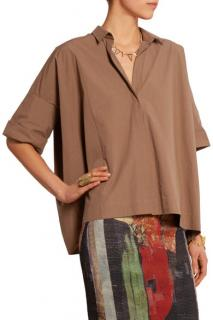 Donna Karan Oversized brown shirt