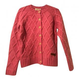 Barbour diamond-knit cardigan