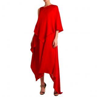 Osman Thalia asymmetric satin dress