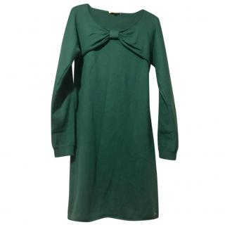 Chloe Knot-Front Wool Dress