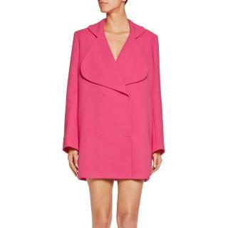 Emilia Wickstead Pink Wool Crepe Blazer
