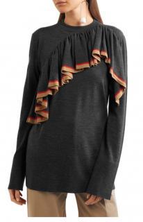 Marni ruffle front knitted sweater
