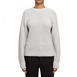 Joseph purl-knit wool and cashmere-blend sweater