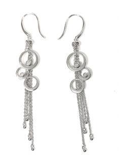 Mirabelle Diamond-Bubble 18ct white-gold earrings