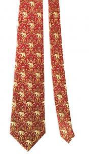 Lanvin printed silk tie