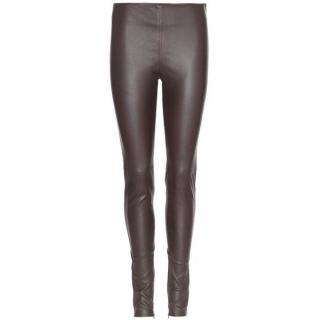 Balenciaga Brown leather skinny leggings