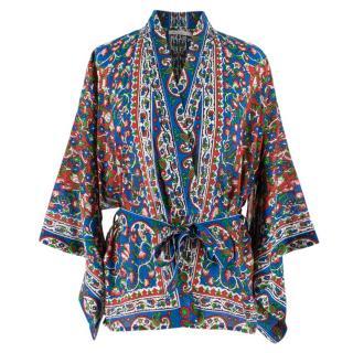 Mes Demoiselles gypsy print wrap blouse