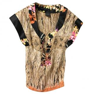 Gucci multi-print silk-blend tunic