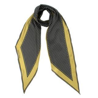 Bottega Veneta polka-dot print skinny silk scarf