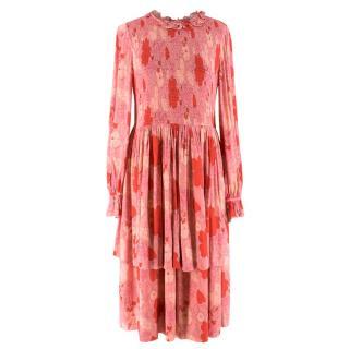 Jill Stuart Double Tier Bernadette Midi Dress