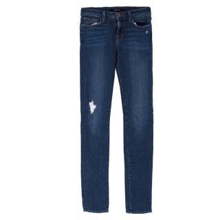 J Brand Mid Rise Skinny Distressed 'Quantum' Jeans