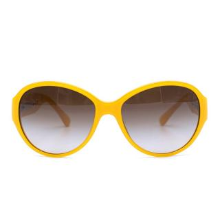 Chanel Yellow Round CC Sunglasses