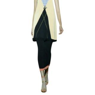 Sonia Rykiel contrast-hem knit pencil skirt