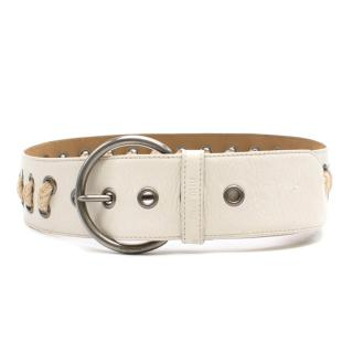 Miu Miu chunky rope detailed belt