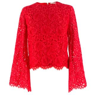 Alice + Olivia pasha lace bell sleeve top